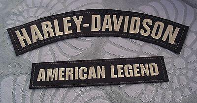 HARLEY-DAVIDSON EMBROIDERED BADGE LEATHER JACKET VEST AMERICAN LEGEND 2 PATCHES