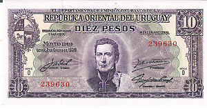 URUGUAY-10-PESOS-ND-L-02-01-1939-AU-P-37d-Serie-D-about-Uncirculated