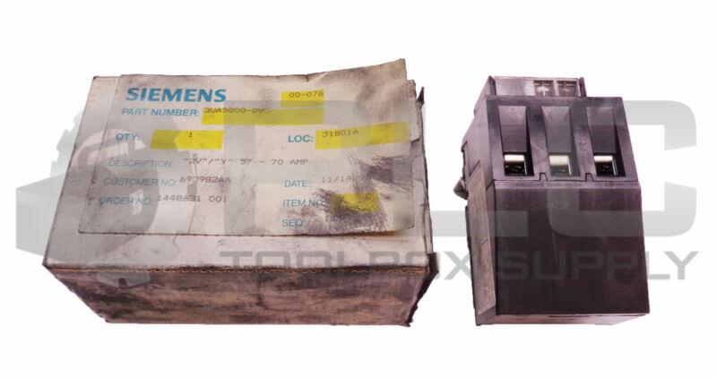 NEW SIEMENS 3UA5800-2V OVERLOAD RELAY 57-70A