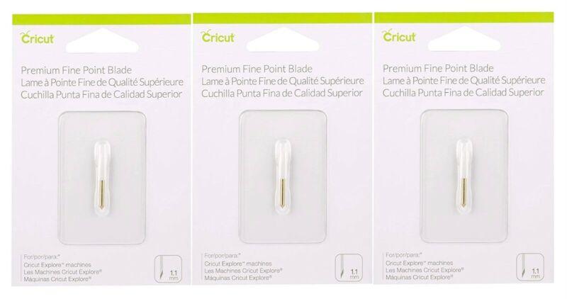Cricut Premium Fine Point Blade Replacement Bundle - 3 Packs Total