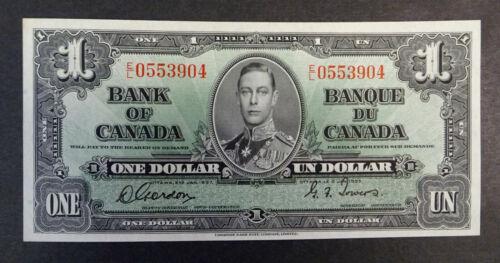 1937  $1 Bank of Canada Banknote, UNC