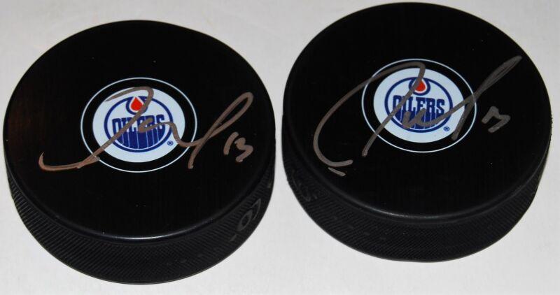 JASON GARRISON signed (EDMONTON OILERS) Souvenir autographed hockey Puck W/COA