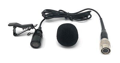 Lavalier Lapel Mic Omni-directional Tie Clip Microphone for Audio-Technica -