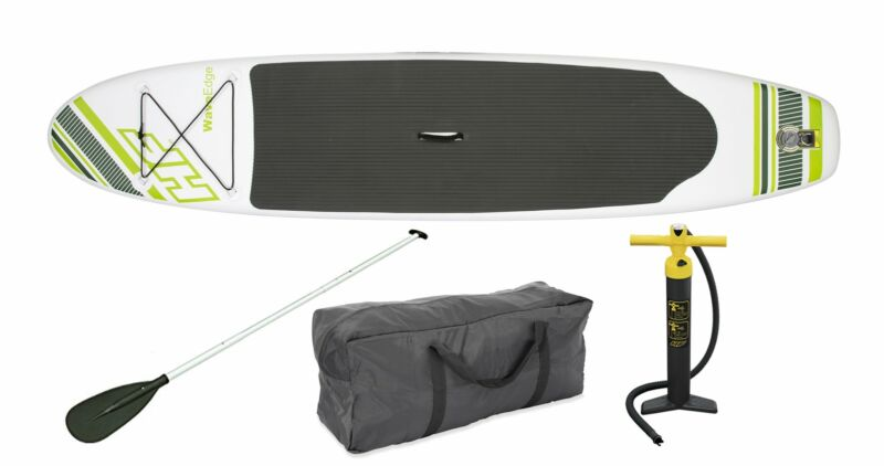 Bestway Hydro Force Wave Edge 10-Ft Inflatable Stand Up Paddle Board Set, Green