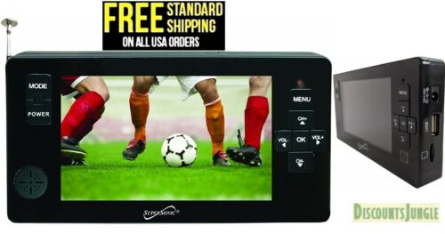 """SUPERSONIC SC-143 Supersonic 4.3"""" Portable Digital LED TV with USB SC143"""
