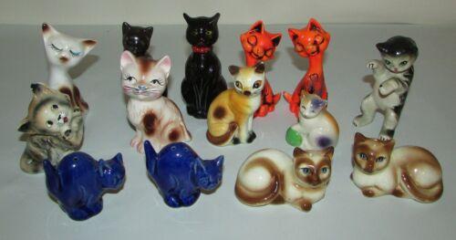 14 Vintage Ceramic Cat Salt & Pepper Shakes, Retro Kitchen Decor, Some Matching