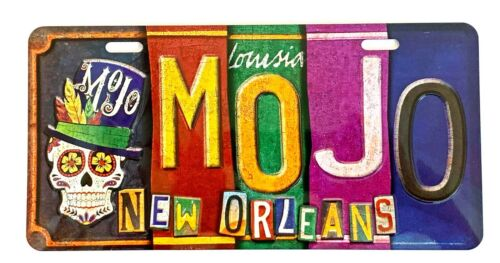 MOJO Voodoo Car Tag METAL SIGN License Plate New Orleans Louisiana Color
