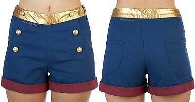 NEW LICENSED ~DC COMICS~ WONDER WOMAN MOVIE COSTUME COSPLAY HIGH WAIST - Wonder Woman Costume Shorts