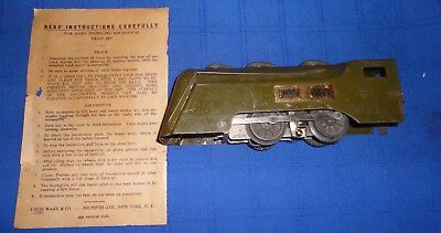 PREWAR MARX 597 OLIVE DRAB COMMODORE VANDERBILT ARMY TRAIN LOCO.........M7