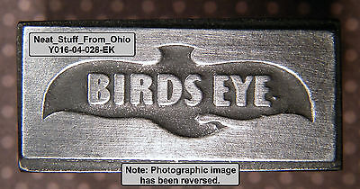 BIRDS EYE (FROZEN FOODS) - LETTERPRESS PRINTER'S BLOCK - RARE / UNUSUAL ITEM