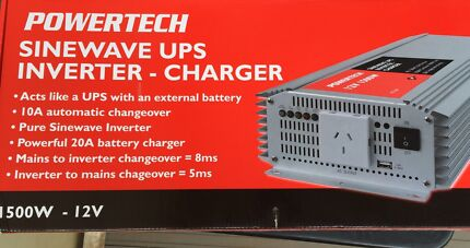 Powertech pure sine wave inverter / main back up / battery charger Prestons Liverpool Area Preview