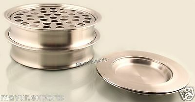 2 Communion Tray Set And 2 Bread Plate Stainless Steel