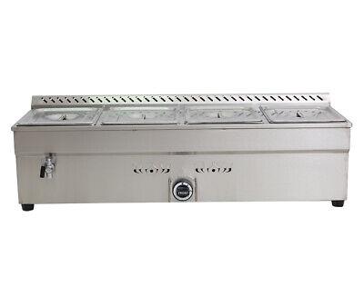 45 4-pan Lp Gas Bain-marie Buffet Food Warmer Steam Table 1warmer412pans