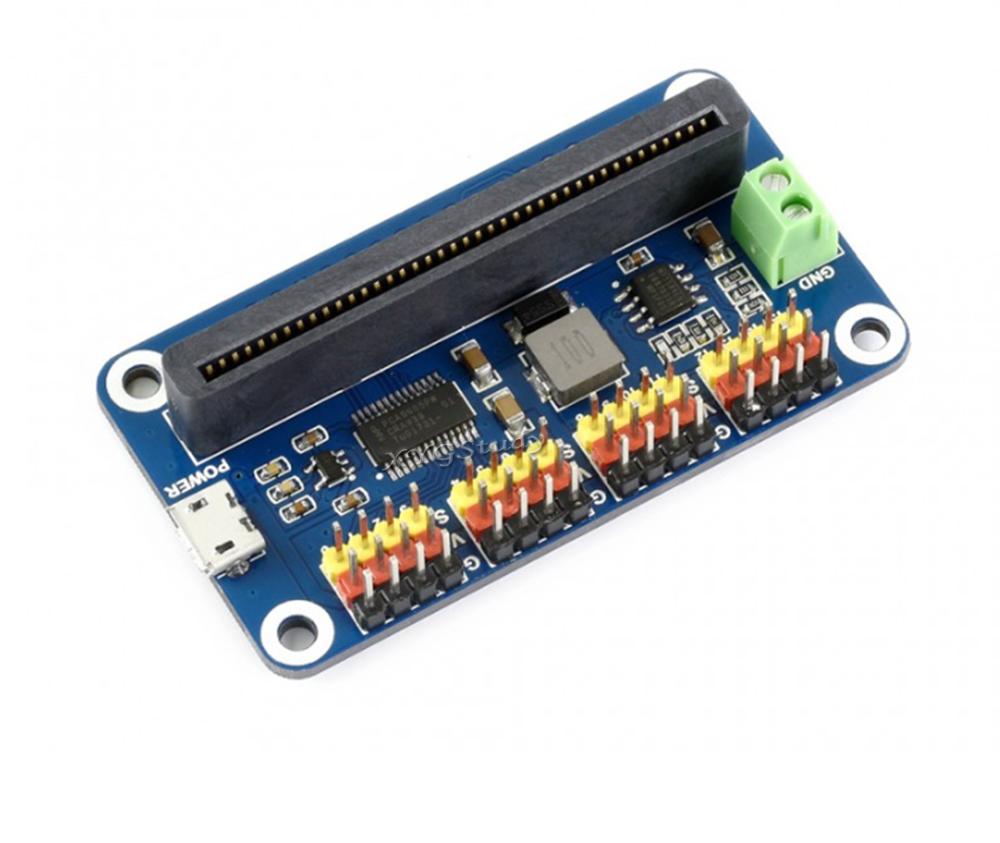 Servo Driver HAT 16-Channel 12-bit I2C Interface PWM Outputs