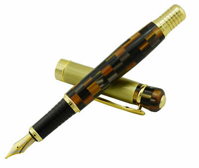 Kaigelu 336 Fountain Pen Multi Color Tiger Eye Celluloid Medium Nib Writing Pen for sale  China