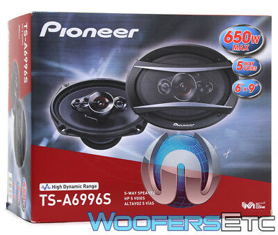 "PIONEER TS-A6996S 6""x9"" 650W 5-WAY COAXIAL CAR AUDIO STEREO AMPLIFIER SPEAKERS segunda mano  Embacar hacia Mexico"