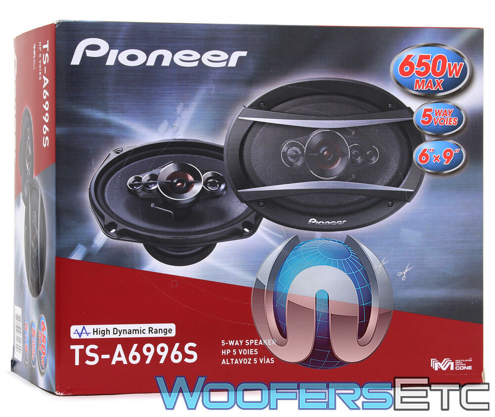 "PIONEER TS-A6996R A-Series 6"" x 9"" 650-Watt 5-Way Speakers"