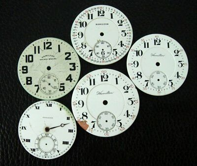 Antique Old Estate Vintage Hamilton Watch Company Pocket Watch Dials