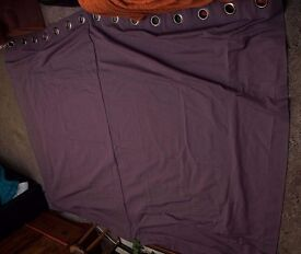 "JOHN LEWIS CUSTOM MADE SINGLE LARGE CURTAIN, CASSIS COLOUR Purple 99"" x 77"""