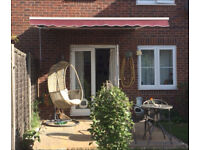 Garden Awning / Canopy with Winding Handle and winter cover