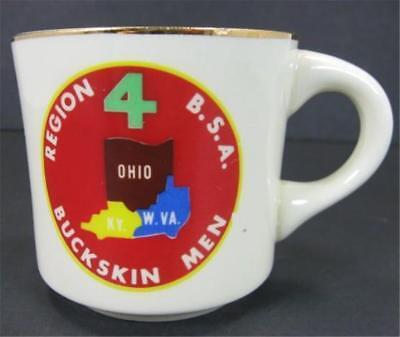 Boy Scouts of America Region 4 Buckskin Men 10oz Coffee Mug KY Ohio WVA BSA Gold