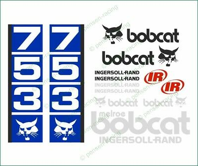 Bobcat 753 Skid Steer Loader Full High Cast Vinyl Decals Stickers Kit Super Look
