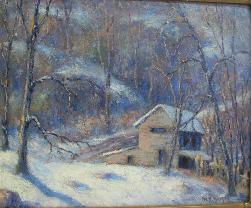 Original American Oil Painting of Winter Scene  WILLIAM SAMUEL HORTON  c. 1915