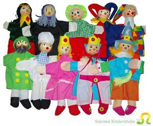 10 Handpuppen Kasperletheater Kasperle Puppen  Holz NEU