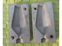 Lead Fishing Weight Moulds x 5