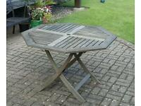 Hardwood outdoor table