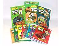 ✨ BEN 10 EASY READING BOOK COLLECTION (10 BOOKS) ~ KIDS CHILDREN'S HERO COMICS ✨