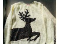Gorgeous fluffy Christmas jumper size 10