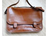 Pure leather briefcase