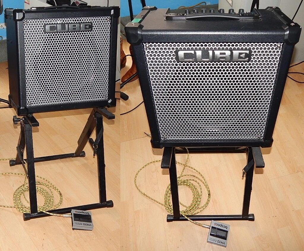 roland 80gx cube 80 watt combo includes cc foot switch amp stand new cover leads and manual. Black Bedroom Furniture Sets. Home Design Ideas