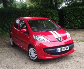 Peugeot 107 1 Litre 5 door. Full 12 Months MOT. Immaculate. £20 a year to tax.Full service history