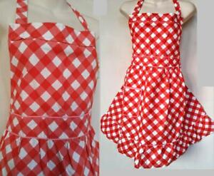NEW DEADSTOCK Cute Little Cupcake Apron Baking Red White Pink Frilly Pinafore