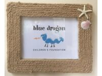 Rope & Shell Picture frame (approx A5 picture)