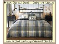 Brecon Charcoal Duvet Set - Double & Kingsize