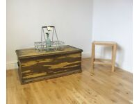 Vintage Stripped Pine Storage Chest / Coffee Table