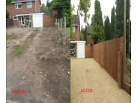GARDEN & SITE CLEARANCE, GROUND LEVELLING, STUMP, HEDGES REMOVED FULL WASTE TRANSFER LICENSE DIGGER
