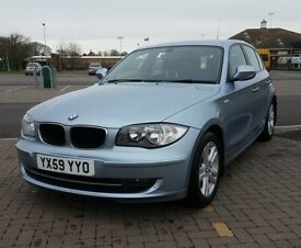 2010 59 BMW 1 SERIES 116d SE 5 Door Hatchback Manual Diesel In Blue 118d 120d