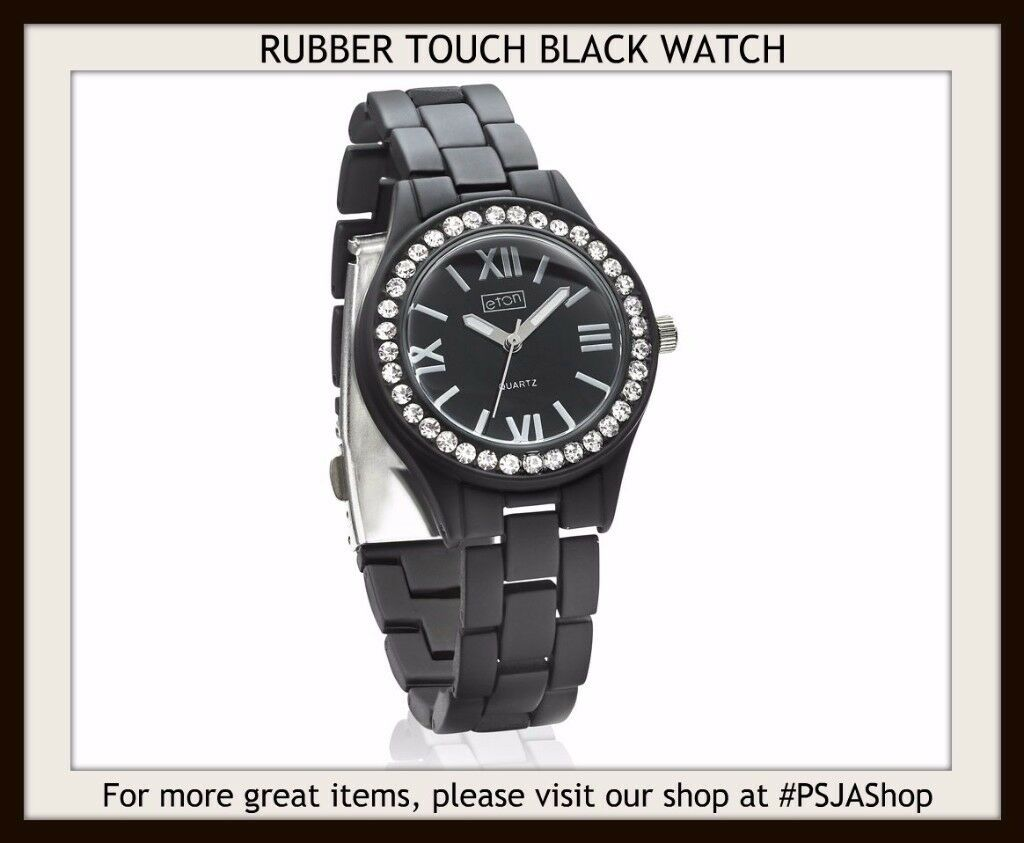 RUBBER TOUCH BLACK WATCH