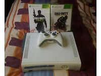 Microsoft Xbox 360 Pro 60 GB White Console (PAL) with 2 games