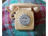 Retro push button telephone