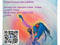 Free art exhibition 24th september in Honor oak