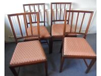 Four Reproduction Mahogany Dining Chairs, Bevan Funnell