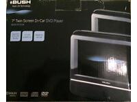 "BUSH 7"" twin screen in car DVD player"