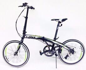 BRAND NEW Trinx folding bike 20 inch wheels 7 speed shimano gears disc brakes carry bag