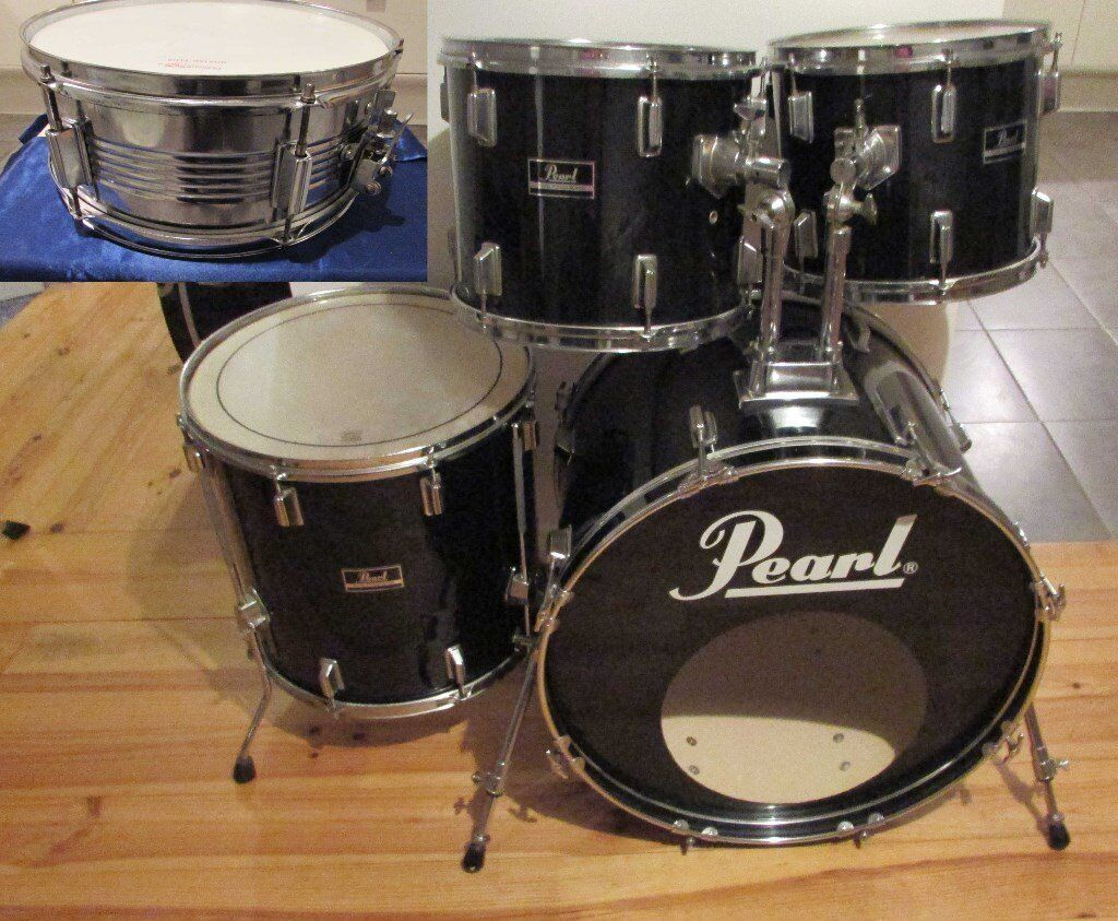 pearl drum kit shell pack 5 piece bass drum snare drum 3 toms forum series with remo heads. Black Bedroom Furniture Sets. Home Design Ideas