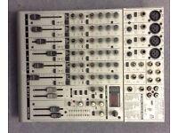 Behringer 8 channel mixing desk